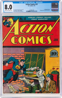 Action Comics #32 (DC, 1941) CGC VF 8.0 Cream to off-white pages