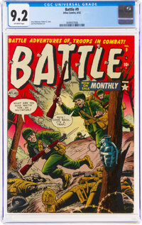 Battle #9 (Marvel, 1952) CGC NM- 9.2 Off-white pages