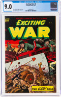 Golden Age (1938-1955):War, Exciting War #8 (Standard, 1953) CGC VF/NM 9.0 Off-white to white pages....