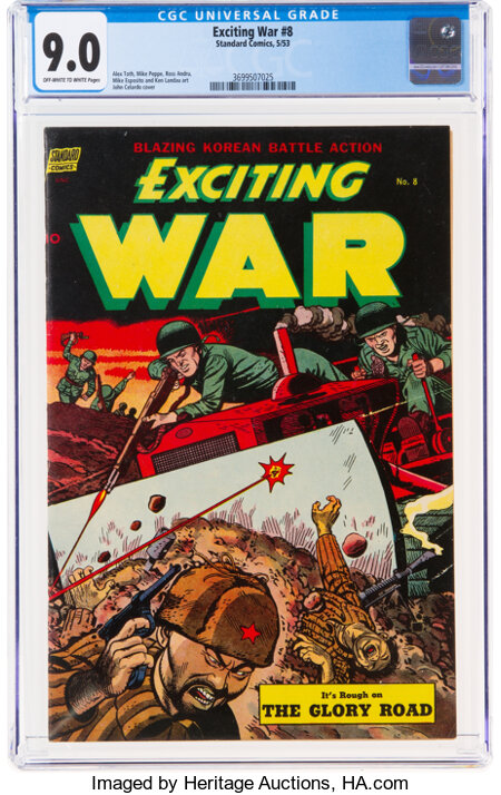 Exciting War #8 (Standard, 1953) CGC VF/NM 9.0 Off-white to white pages....