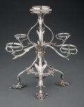 Silver & Vertu, An Emick Romer Silver Epergne, London, 1774. Marks: (lion passant), (crowned leopard's head), T, ER. 12 x 12-3/4 inches ... (Total: 5 )