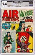 Golden Age (1938-1955):War, Air Fighters Comics V2#7 Mile High Pedigree (Hillman Fall, 1944) CGC NM 9.4 Off-white to white pages....