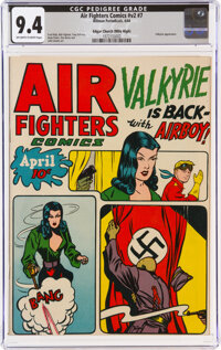 Air Fighters Comics V2#7 Mile High Pedigree (Hillman Fall, 1944) CGC NM 9.4 Off-white to white pages