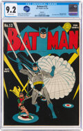 Golden Age (1938-1955):Superhero, Batman #13 Rockford Pedigree (DC, 1942) CGC NM- 9.2 Off-white pages....