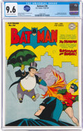 Golden Age (1938-1955):Superhero, Batman #38 (DC, 1946) CGC NM+ 9.6 Off-white to white pages....