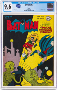 Batman #41 Rockford Pedigree (DC, 1947) CGC NM+ 9.6 Off-white to white pages