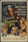 "Movie Posters:Adventure, Thunder Bay (Universal International, 1953). One Sheet (27"" X 41"").Adventure...."