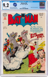 Batman #56 (DC, 1949) CGC NM- 9.2 White pages