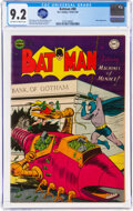 Golden Age (1938-1955):Superhero, Batman #80 (DC, 1954) CGC NM- 9.2 Off-white to white pages...