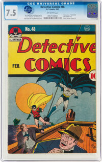 Detective Comics #48 (DC, 1941) CGC VF- 7.5 Off-white pages