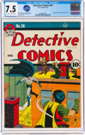 Golden Age (1938-1955):Superhero, Detective Comics #50 (DC, 1941) CGC VF- 7.5 Off-white to w...