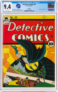 Detective Comics #54 Rockford Pedigree (DC, 1941) CGC NM 9.4 Off-white pages