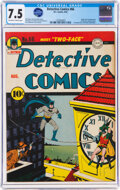 Golden Age (1938-1955):Superhero, Detective Comics #66 (DC, 1942) CGC VF- 7.5 Off-white to w...