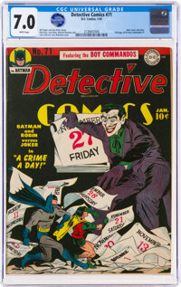 Detective Comics #71 (DC, 1943) CGC FN/VF 7.0 White pages