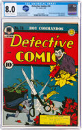 Golden Age (1938-1955):Superhero, Detective Comics #76 (DC, 1943) CGC VF 8.0 Off-white to white pages....