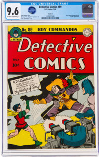 Detective Comics #89 Rockford Pedigree (DC, 1944) CGC NM+ 9.6 Off-white to white pages