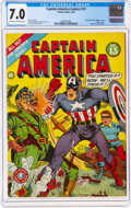 Golden Age (1938-1955):Superhero, Captain America Comics #13 (Timely, 1942) CGC FN/VF 7.0 Cream to off-white pages....