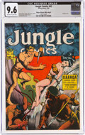 Golden Age (1938-1955):Adventure, Jungle Comics #45 Mile High Pedigree (Fiction House, 1943) CGC NM+ 9.6 Off-white to white pages....