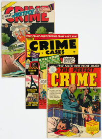 Golden Age Crime Comics Group of 10 (Various Publishers, 1949-52) Condition: Average VG.... (Total: 10 )