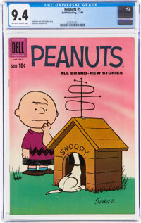 Peanuts #5 (Dell, 1960) CGC NM 9.4 Off-white to white pages