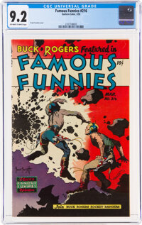 Famous Funnies #216 (Eastern Color, 1955) CGC NM- 9.2 Off-white to white pages