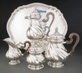 Silver & Vertu, A Five-Piece Buccellati Silver Coffee and Tea Service with Wood Handles, Milan, late 20th century. Marks: BUCCELLATI, ITAL... (Total: 5 )