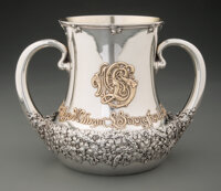 A Tiffany & Co. Partial Gilt Silver Two-Handled Presentation Cup, New York, 1897-1902 Marks: TIFFANY & CO., 1346...