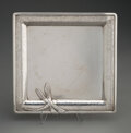 Silver & Vertu, A Whiting Mfg. Co. Aesthetic Movement Silver Tray with Applied Dragonfly, New York, circa 1885. Marks: (W-griffin), STERLI...