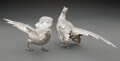 Silver & Vertu, A Pair of German Silver Pheasants, 20th century. Marks: STERLING 925, GERMANY, 3. 4-1/2 x 9-1/2 x 3 inches (11.4 x 24.1 ... (Total: 2 )