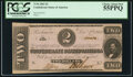 Confederate Notes:1862 Issues, T54 $2 1862 PF-11 Cr. 392 PCGS Choice About New 55PPQ.. ...