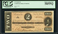 Confederate Notes:1864 Issues, T70 $2 1864 PF-5 Cr. 567 PCGS Choice About New 58PPQ.. ...