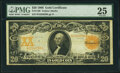 Large Size:Gold Certificates, Fr. 1186 $20 1906 Gold Certificate PMG Very Fine 25.