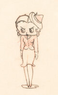 Animation Art:Production Drawing, Judge for a Day Betty Boop Animation Drawing (Fleischer, 1935). ...