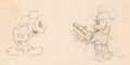 Animation Art:Production Drawing, Puppy Love Mickey Mouse and Minnie Mouse Animation Drawing (Walt Disney, 1933). ...