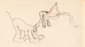 Animation Art:Production Drawing, Pluto Vintage Gag Drawing (Walt Disney, c.1930s)....