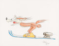 Animation Art:Production Drawing, Wile E. Coyote Original Illustration by Virgil Ross (Warner Bros. c. 1990s)....