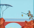 Animation Art:Color Model, Wile E. Coyote Color Model Cel with Painted Background (Warner Bros. c.1980s)....