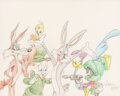 Animation Art:Production Drawing, Bugs Bunny and Friends Illustration by Virgil Ross (Warner Bros. c. 1990s)....