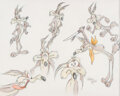 Animation Art:Production Drawing, Virgil Ross Wile E. Coyote Illustration/ Model Sheet (Warner Bros. c. 1990s). ...