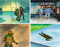 Animation Art:Production Cel, Teenage Mutant Ninja Turtles Leonardo, Donatello, Raphael and Michelangelo Production Cel Group of 4 (Murakami-Wolf-Sw... (Total: 4 )