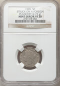 Errors, 1905 5C Liberty Nickel -- Struck on a Foreign Planchet -- VF30 NGC. (2.72 grams). . From The Don Bonser Error Coin ...
