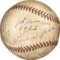 Baseball Collectibles:Balls, 1933 Jimmie Foxx Single Signed Home Run Baseball Inscribed to His Son from The Jimmie Foxx Collection....