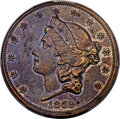 Patterns, 1859 $20 Liberty Double Eagle, Judd-263, Pollock-312, R.8, PR61 Brown PCGS....