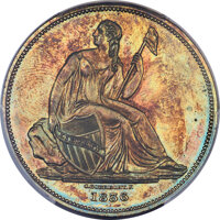 1836 P$1 Name Below Base, Judd-59 Restrike, Pollock-62, R.8, PR63 Red and Brown PCGS....(PCGS# 11220)