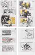 Movie/TV Memorabilia:Original Art, The Replacements Storyboard Original Art Group of 8 with Production Copies (Warner Brothers, c. 2000).