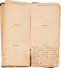 Military & Patriotic:Civil War, 1865 Civil War Diary of Wm. M. Lundy, 3rd Brigade, 3rd Division, 23rd Corps, 63rd Regiment, Indiana Volunteer Infantry.