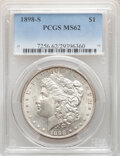 Morgan Dollars, 1898-S $1 MS62 PCGS. PCGS Population: (760/3220). NGC Census: (486/1428). CDN: $375 Whsle. Bid for NGC/PCGS MS62. Mintage 4...