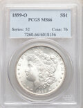 Morgan Dollars, 1899-O $1 MS66 PCGS. PCGS Population: (1637/207). NGC Census: (1206/118). CDN: $200 Whsle. Bid for NGC/PCGS MS66. Mintage 1...