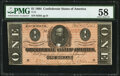 Confederate Notes:1864 Issues, T71 $1 1864 PF-12 Cr. 574 PMG Choice About Unc 58....