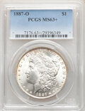 Morgan Dollars, 1887-O $1 MS63+ PCGS. PCGS Population: (4889/3425 and 55/256+). NGC Census: (4674/1996 and 40/48+). CDN: $120 Whsle. Bid fo...
